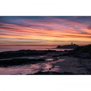 Godrevy-Lighthouse-Cornwall-sunset