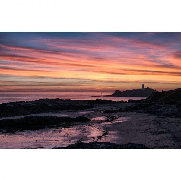 Godrevy-Lighthouse-Cornwall-sunset