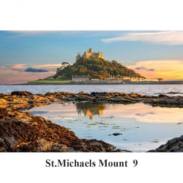 Sunset at St Michael's Mount in Cornwall